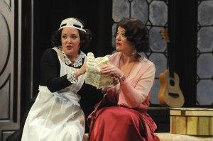 Anna Christy as Susanna and Sinéad Mulhern as the Countess. Photo by Mark Kiryluk.