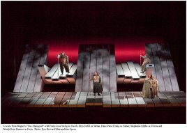 "A scene from Wagner's ""Das Rheingold"" in Robert Lepage's production. Photo: Ken Howard/Metropolitan Opera"