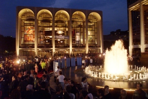 Lincoln Center Plaza and the Metropolitan Opera House