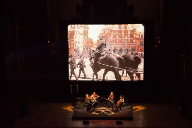 Kronos Quartet performing Beyond Zero. Photo courtesy of Kronos Quartet