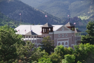 Chautauqua Auditorium, home to the CMF Festival Orchestra
