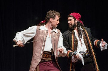 Paul Kroeger as Frederic and Frank Fainer as the Pirate King in the CU production of 'Pirates of Penzance' (Photo by Glenn Asakawa/University of Colorado)