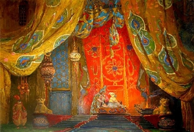Set design for a ballet production of Rimsky-Korsakov's Scheherazade, but Léon Bakst.