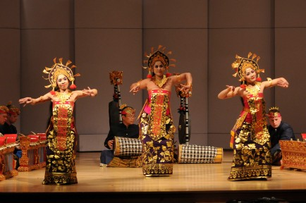 CU Balinese Gamelan and dancers (Photo by Glenn Asakawa/University of Colorado)