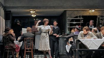 "The San Diego Opera's production of ""La Boheme"" (with Sara Gartland as Musetta). Photo: Ken Howard"