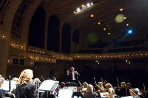 Michael Butterman and the Boulder Philharmonic in Macky Auditorium
