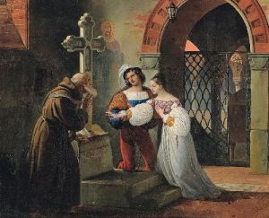 Romeo and Juliet. Painting by Francesco-Paolo-Hayez.