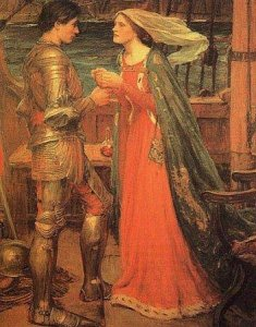 Tristan and Isolde. Painting by John William Waterhouse, 1911.