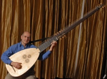 William Simms with theorbo