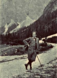Mahler hiking in the Austrian alps.