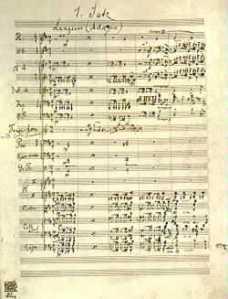 Mahler's autograph score of Symphony No. 7.