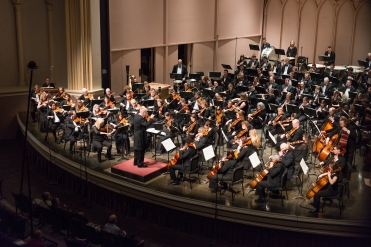 Robert Olson with the MahlerFest orchestra. Photo by Keith Bobo.