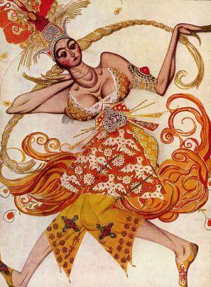 Léon Bakst: 'Firebird,' Ballerina, 1910