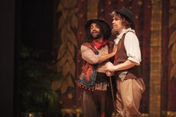 Michael Kuhn (Sancho) and James Dornier (Don Quixote). Photography by Amanda Tipton.