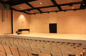 Interior of the new Stewart Auditorium at the Longmont Museum. Photo by Peter Alexander