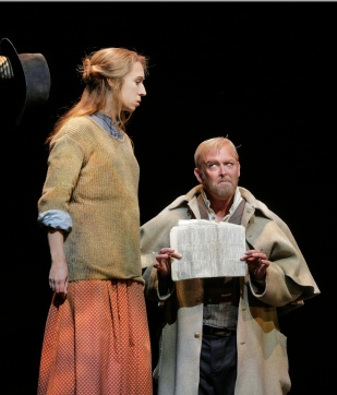 Emily Fons (Ruby Thewes) and Jay Hunter Morris (Teague) in 'Cold Mountain.' Photo © Ken Howard for Santa Fe Oper