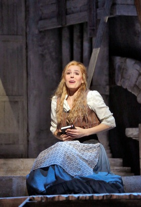 Georgia Jarman (Gilda) in 'Rigoletto.' Photo (c) Ken Howard for The Santa Fe Opera
