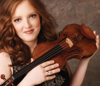 Violinist Rachel Barton Pine with her violin