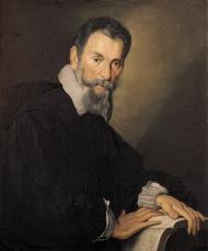 Claudio Monteverdi. Portrait by Bernardo Strozzi.