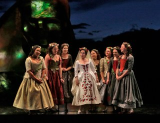 10 Rhian Lois (Zerlina) and Ensemble Cast in 'Don Giovanni' (c) Ken Howard for Santa Fe Opera.SMALL