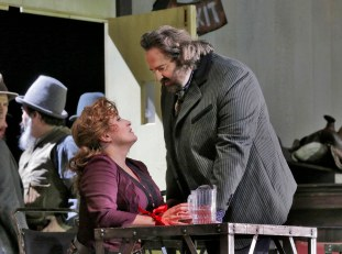 13 Patricia Racette (Minnie) and Gwyn Hughes Jones (Dick Johnson) in 'The Girl of the GOlden West' (c) Ken Howard for Santa Fe Opera.SMALL