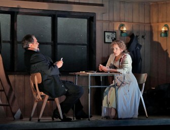 14 Mark Delavan (Jack Rance) and Patricia Racette (Minnie) in 'The Girl of the Golden West' (c) Ken Howard for Santa Fe Opera.SMALL