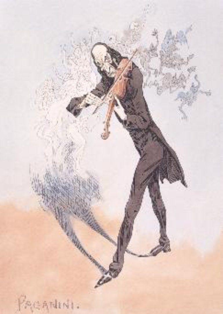 Paganini charicature