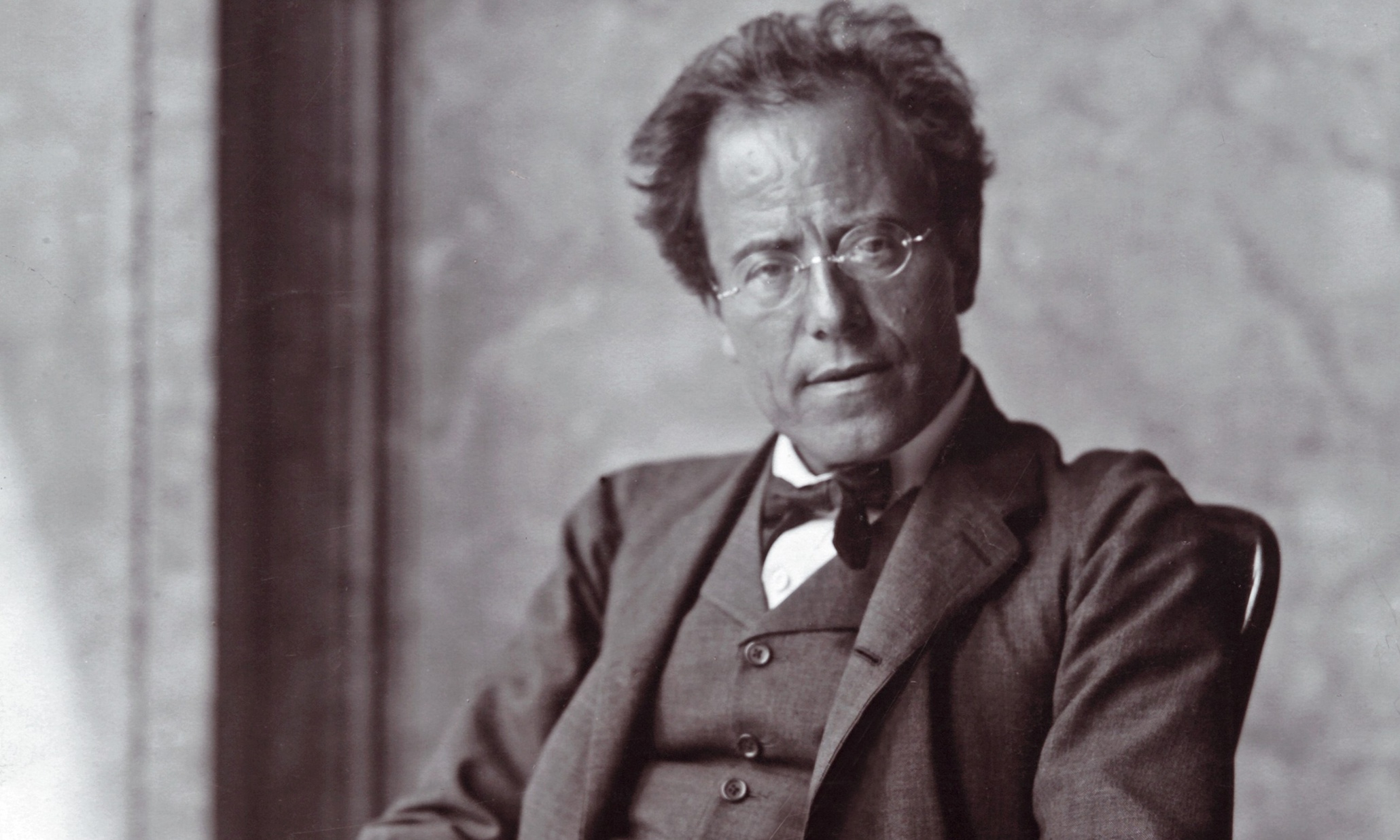 The Austrian composer Gustav Mahler. Photograph by Moriz Nähr. 1907.